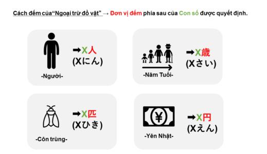 Cách đếm người và đồ vật bằng tiếng Nhật→Đơn vị đếm là gì?
