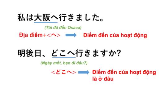 [Trợ từ へ, đi đâu ] Tiếng Nhật nghĩa là gì?→ 場所 + へ, どこへ? Ý nghĩa, cách dùng của cấu trúc này! [Ngữ pháp N5]