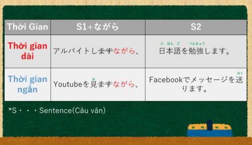 Vừa…vừa… (Đồng thời) trong tiếng Nhật là gì? →~ながら Giải thích ý nghĩa 【N4】