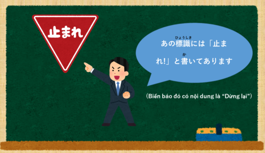 """""""Đã viết ~"""" Tiếng Nhật là gì?→~と書いてあります。Ý nghĩa  và cánh sử dụng【Ngữ pháp N4】"""