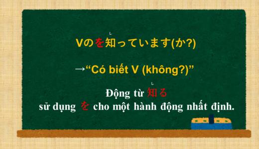 """""""Có biết V (không?)""""tiếng Nhật là gì?→Vのを知っています(か?) Ý nghĩa và cách sử dụng."""
