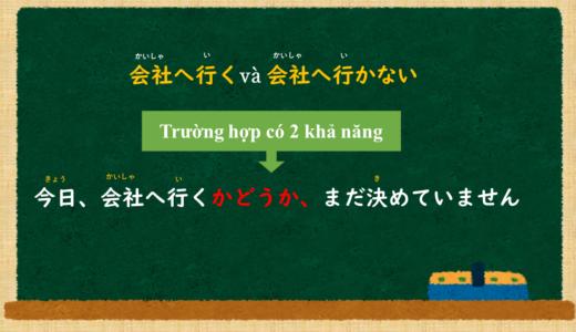"""""""Có~ hay không?"""" của tiếng Nhật là gì?→~かどうか、~. Ý nghĩa và cách sử dụng【N4】"""