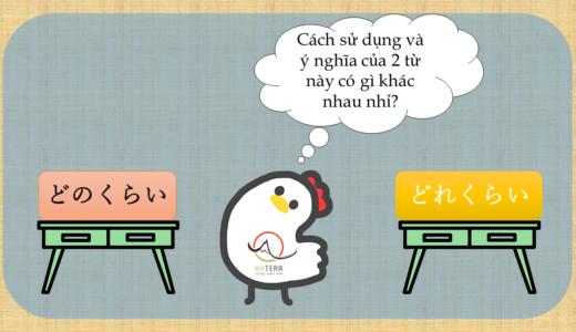 Cách sử dụng và sự khác biệt của「どのくらい」 và 「どれくらい」【Giải thích của người Nhật】